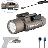 Olight PL-PRO Valkyrie 1500 Lumens NW LED Magnetic Rechargeable Tactical Flashlight with Magnetic Remote Pressure Switch,Built-in Battery and SKYBEN Battery Case(Desert Tan)
