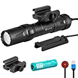 Olight Odin 2000 Lumen 300 Meter Rechargeable Picatinny Mount 21700 Tactical Flashlight with Removable Slide Rail and Remote Switch (Limited Edition Desert Tan)
