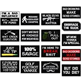 20 Pieces Tactical Embroidery Patch Funny Military Patch Full Embroidered Appliques for Caps Bags Vests Military Uniforms