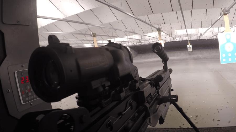 elcan indoor range m249