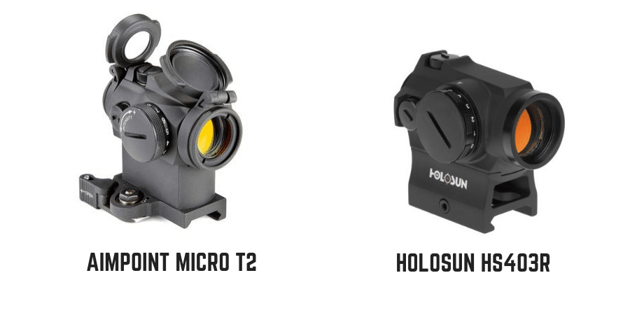 HoloSun HS403R red dot sight looks like an Aimpoint Micro T2