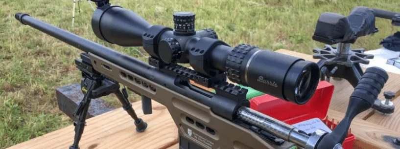 burris scope on precision rifle