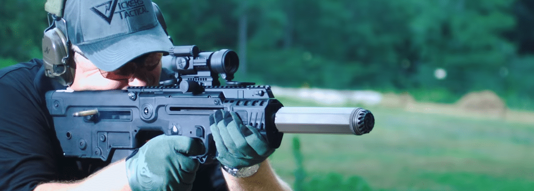 larry vicker shooting x95 suppressed with aimpoint pro