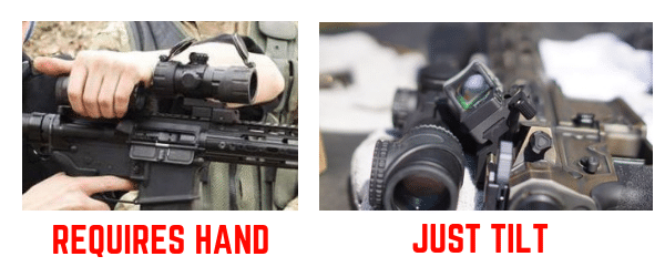 red dot magnifier vs offset red dot