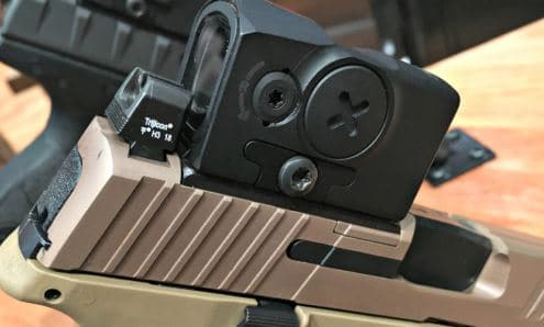 Aimpoint ACRO Side View Mounted On FN509