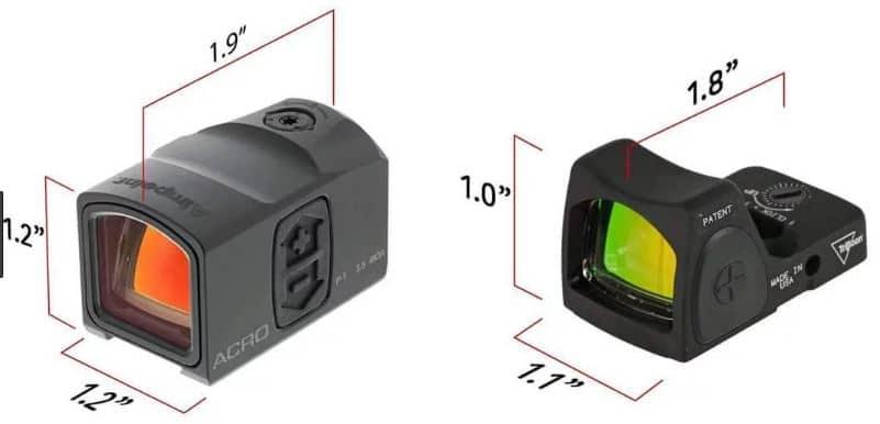 Aimpoint ACRO VS Trijicon RMR Dimension