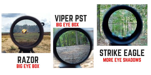 VORTEX SCOPE EYE BOX COMPARISON