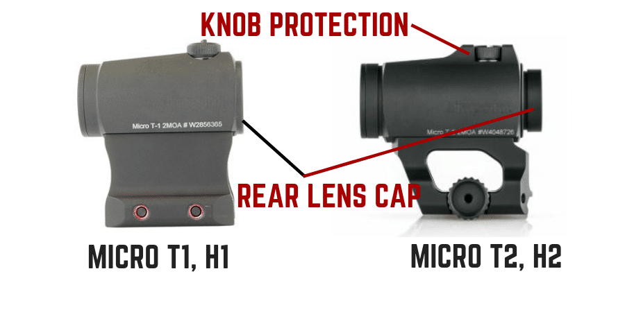 Aimpoint T1 H1 VS T2 H2 external