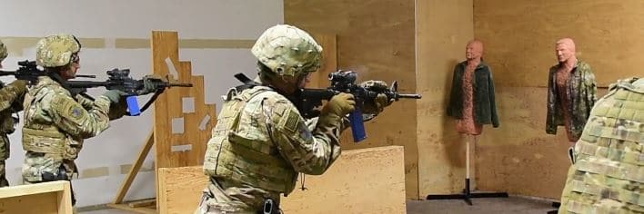 CQB with M4 with ACOG scope