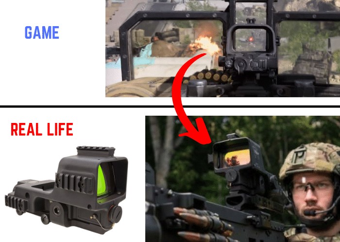 Call of duty modern warefare trijicon machine gun sight