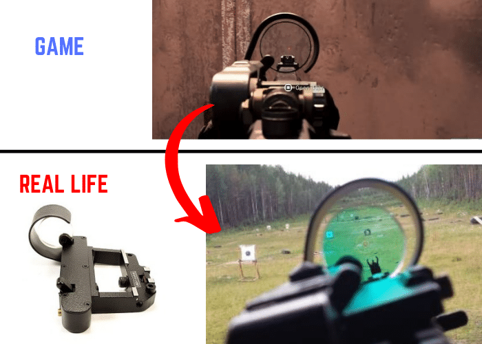 Call of duty modern warfare russian okp7 red dot optic