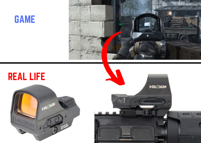 Call of duty red dot sights Holosun 510C real life