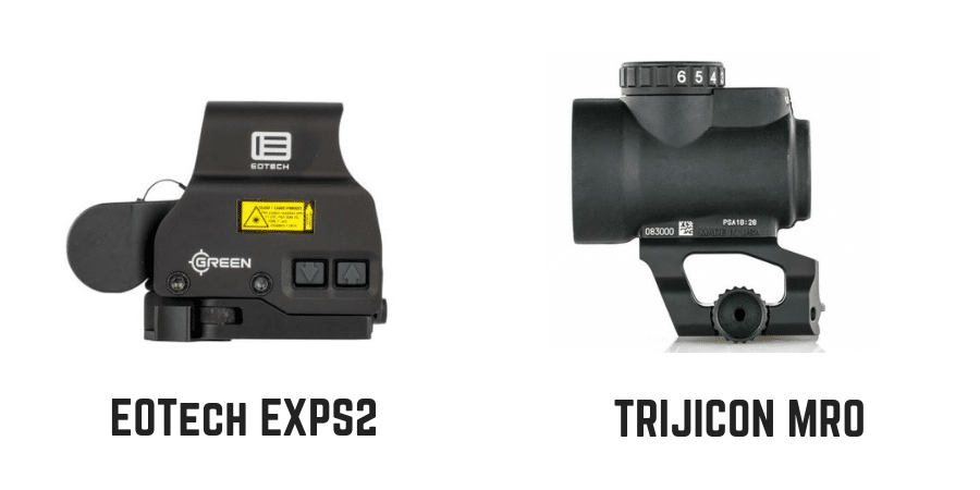 Eotech exps2 vs trijicon mro side profile