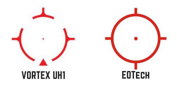 Reticle size eotech exps2 vs vortex amg uh1