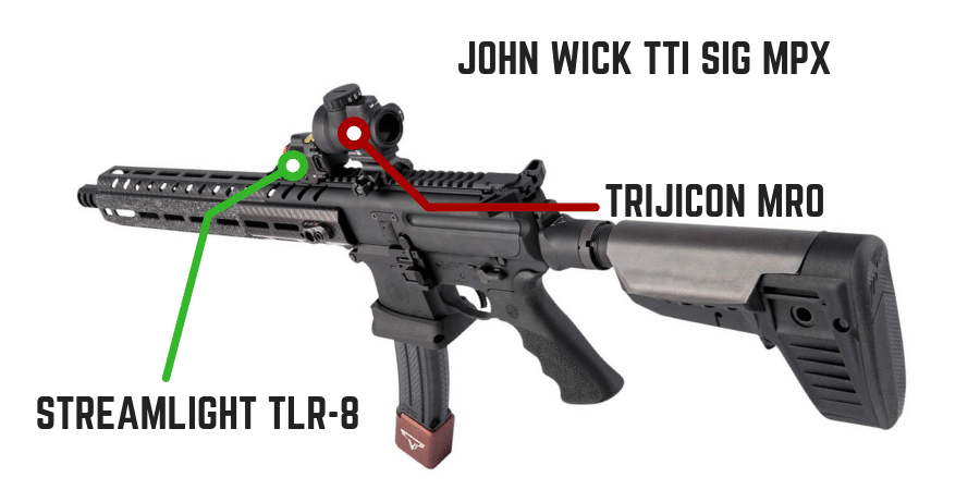 Taran Tactical Sig MPX with Trijicon MRO and TLR 8