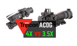Trijicon ACOG 3.5X vs 4X Comparison Review – Where Eye Relief Matters