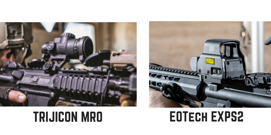 Trijicon mro reflex sight vs eotech exps2 holographic sight