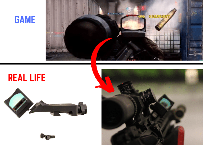 call of duty modern warfare offset red dot sight realism