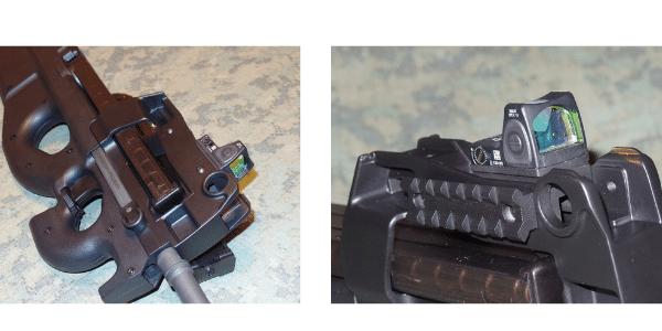 FN P90 Design Machine INC low optic mounts