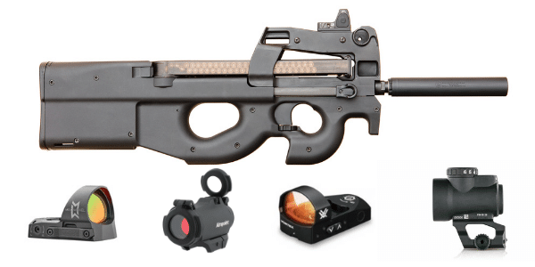 best red dot sights for FN p90 submachine gun