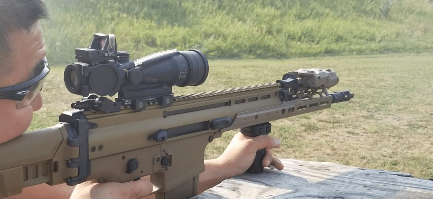 ACOG 3.5X on FN SCAR 17