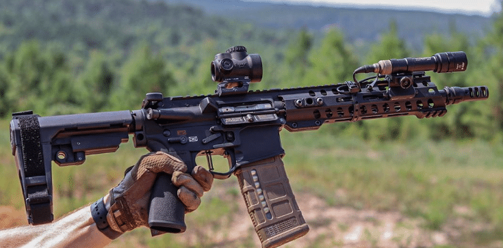 MK18 pistol setup with Trijicon MRO