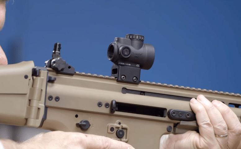 Trijicon MRO on FN SCAR 16