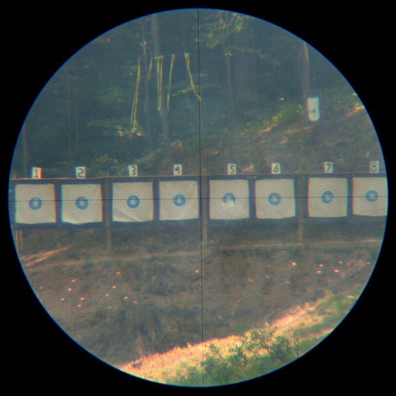 1000 yard view in a spotting scope