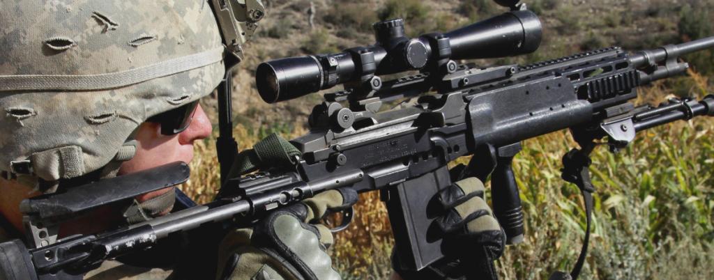 badger ordnance 34mm scope rings on m14 EBR rifle