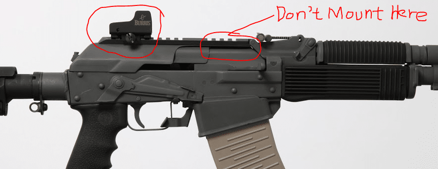 Best spot for mounting optic on VEPR 12