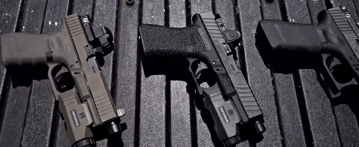 Glocks with Deltapoint Pro and Trijicon RMR