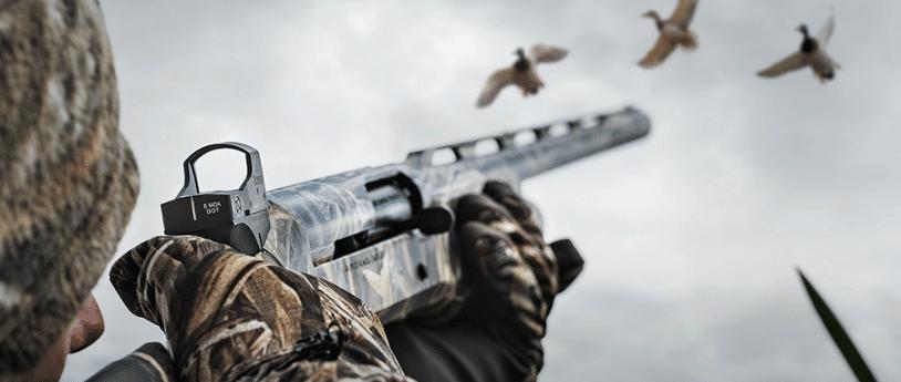 Hunting shotgun with Burris fast fire