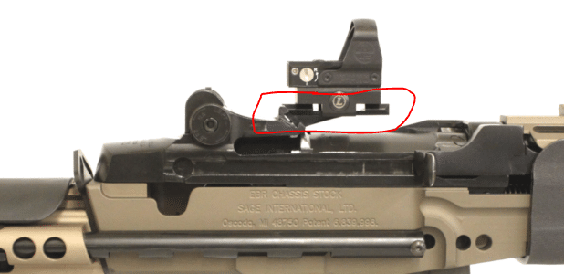Low profile dovetail EBR clip Mount