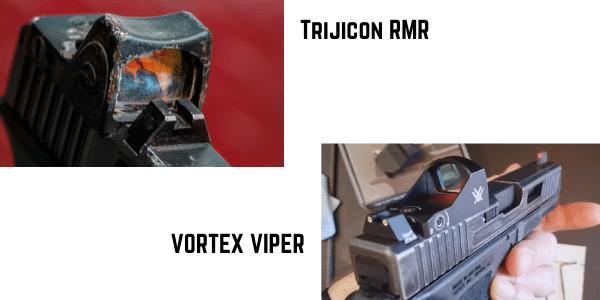 Trijicon RMR VS VORTEX VIPER EXTERNAL BODY
