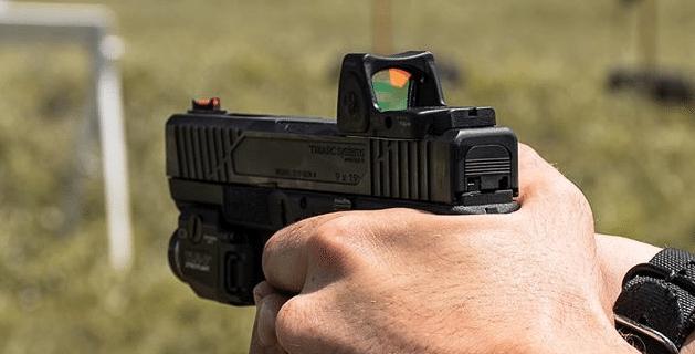 Trijicon RMR on a fancy Glock Slide