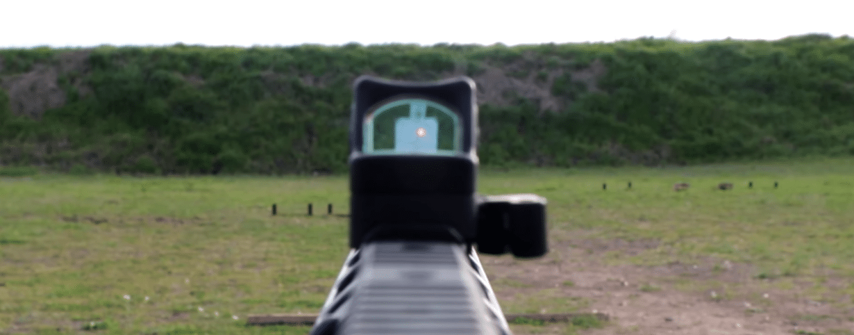 Wide field of view red dot sight on VEPR 12
