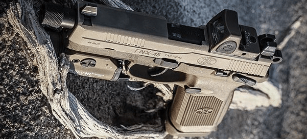 fde fn fnx 45 tactical with streamlight tlr2 and rmr