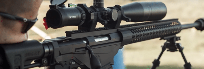 ruger precision rifle with vortex scope and drum mag