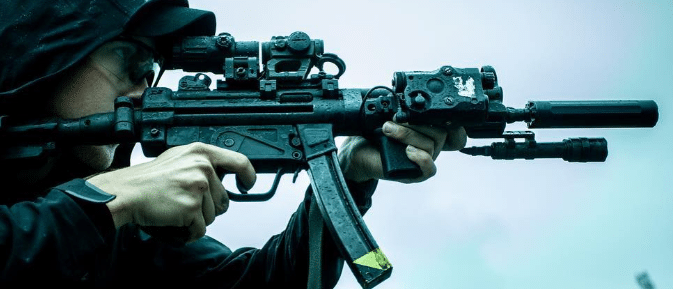 trex arm with mp5 suppressed