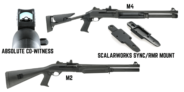 benelli m4 and m2 with scalarworks sync rmr mount