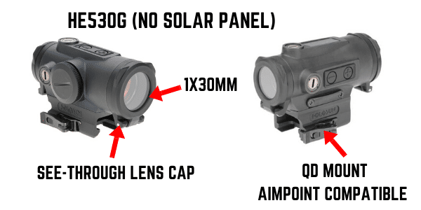 holosun 530G red dot sight picture