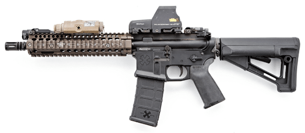 DD MK18 with EOTECH and PEQ2