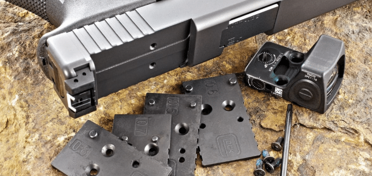 Glock gen 4 mos optic mounting plates