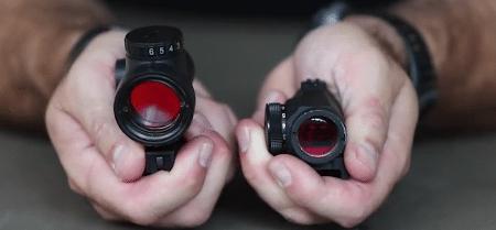 trijicon mro vs aimpoint micro lens sizes
