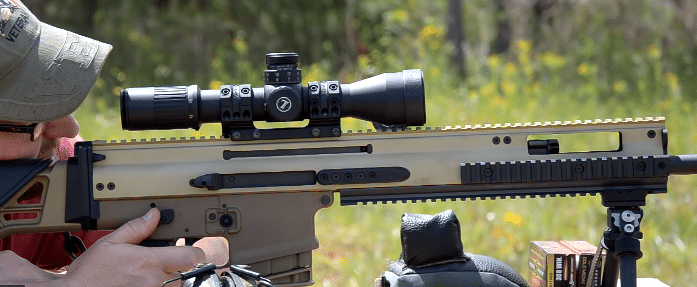 scar 20s with leupold mark 6