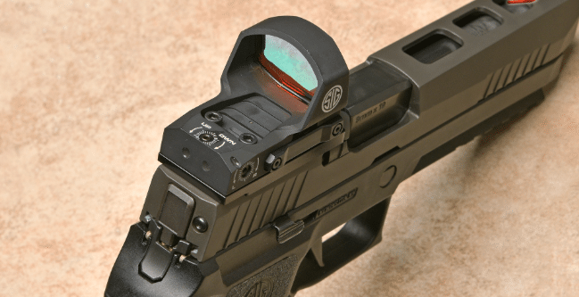 sig p320 with ROMEO3 XL open reflex sight