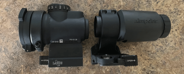 Trijicon MRO with Aimpoint 3x c