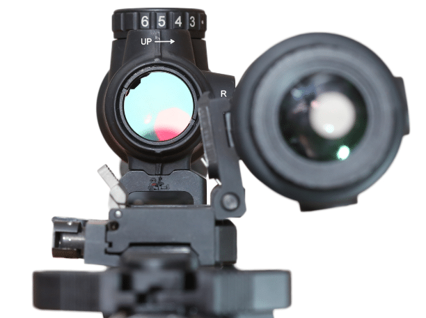Trijicon MRO with magnifier POV