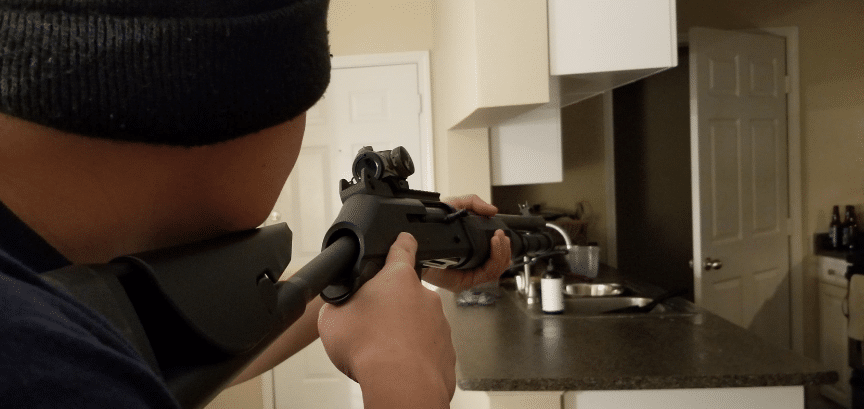 home defense with benelli m4 with aimpoint micro h1