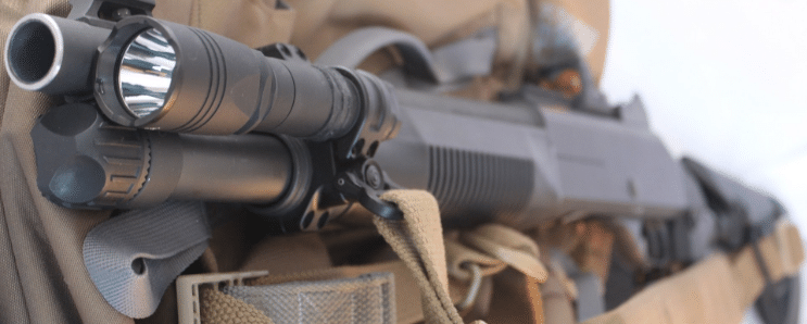 benelli m4 with tactical flashlight